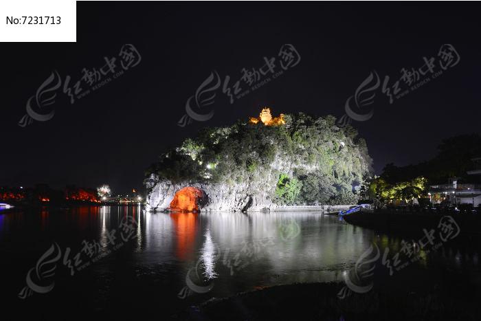 桂林漓江象山公园夜景