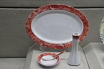镁质瓷红宝石餐具