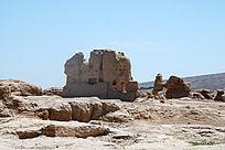 吐鲁番交河古城车师国城堡遗址