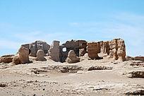 吐鲁番交河古城车师国房屋遗迹