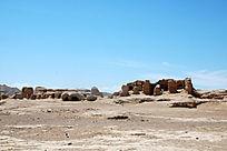 吐鲁番交河古城荒凉的遗址