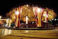 休闲餐厅夜景