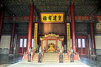 北京故宫乾清殿内景