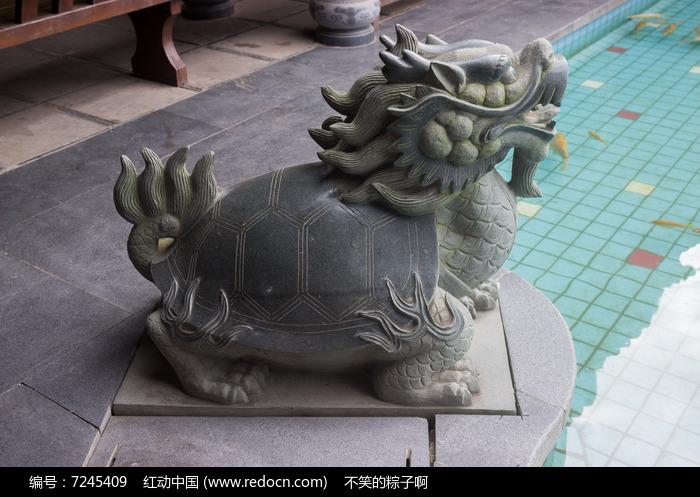 神兽龙头龟雕刻图片