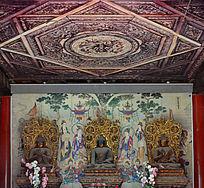智化殿内供奉佛像