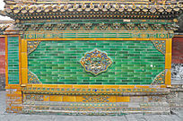 北京故宫琉璃影背