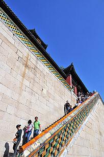 北京颐和园佛香阁德晖殿台阶