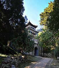 北京颐和园紫气东来城关