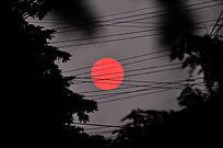 红太阳风景图片