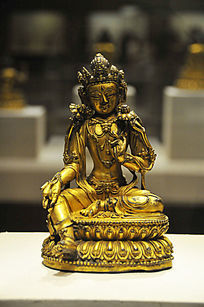 鎏金铜观音菩萨坐像