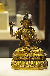 鎏金铜金刚手菩萨坐像