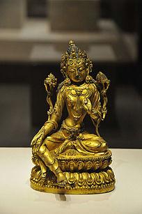 鎏金铜绿度母坐像