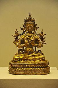 鎏金铜弥勒菩萨坐像