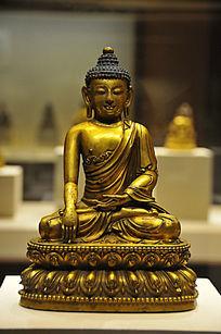 鎏金铜释迦牟尼佛坐像