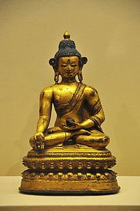 鎏金铜药师佛坐像