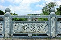 石栏杆花鸟雕刻