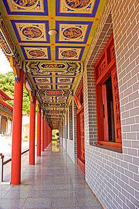 寺庙走廊天花