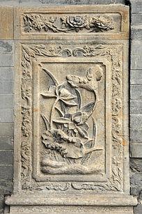 荷花石雕图案