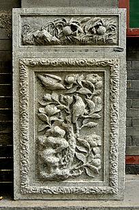 花鸟石雕图案