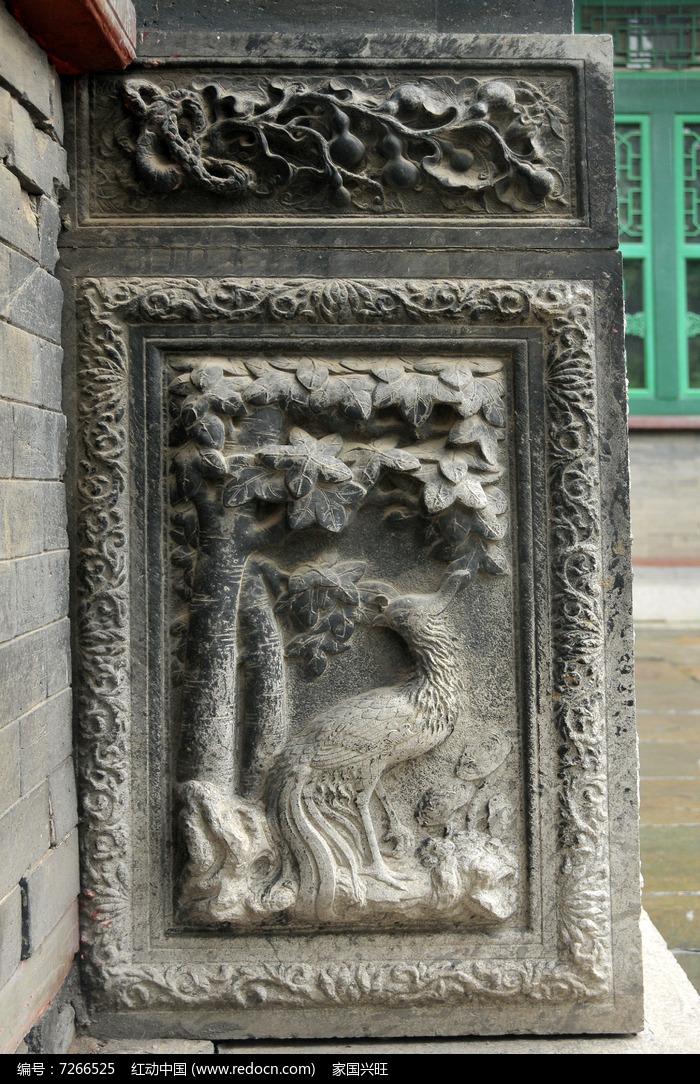 孔雀石雕图案图片
