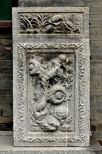 葵花石雕图案