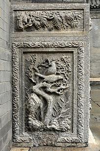 喜鹊梅花石雕