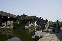 浙江绍兴安昌古镇过河石桥