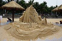 风帆艺术沙雕