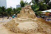 海边艺术沙雕