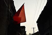 老街上的红旗