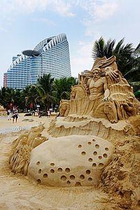 欧式艺术沙雕