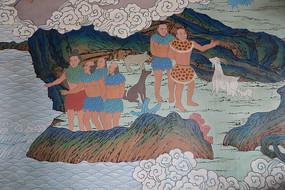 神农伏羲壁画狩猎