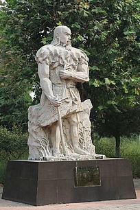 石雕神农伏羲种五谷
