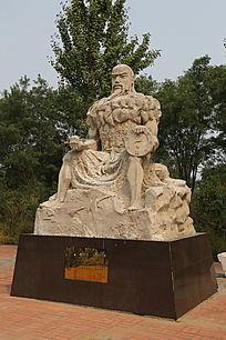 石雕神农伏羲种五谷农耕