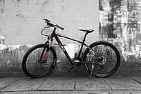 自行车灰色背景图