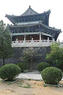 古代建筑神农伏羲台外景