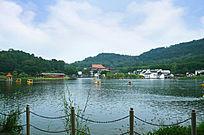 古建筑山水风景图片