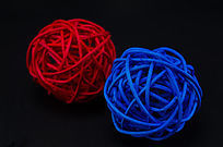 红蓝编织球