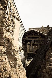 塌陷的建筑