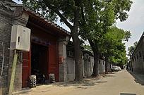 北京东城区南锣鼓巷景阳胡同街景