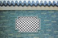花窗青砖墙