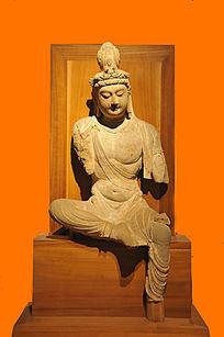 石雕菩萨坐像