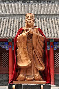 长春文庙孔子塑像特写