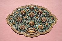 富贵牡丹琉璃浮雕