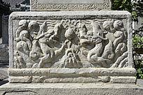 古代石碑双龙石刻