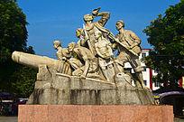 抗战英雄人物雕像图片