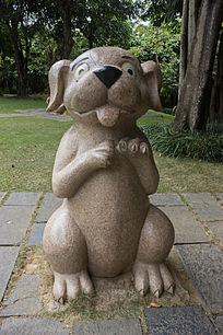 卡通狗雕像