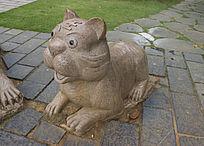 卡通小老虎雕像