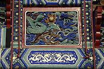 牌坊龙凤纹木雕彩绘
