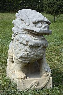 清代民间石雕石狮